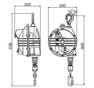 Medidas Balanceador de Herramientas Tecna Heavy 15-75