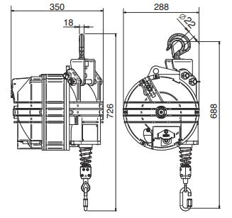 Medidas Balanceador de Herramientas Tecna X-Heavy