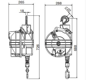Medidas Balanceador de Herramientas Tecna X-Heavy 20-35