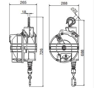 Medidas Balanceador de Herramientas Tecna X Heavy 45-100